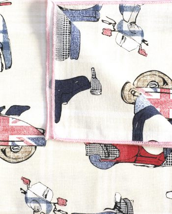 Mac - Scooter Print Cotton Men's Handkerchief
