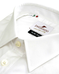 Enrico – Small Collar Formal Shirt in a Crisp White Poplin_2