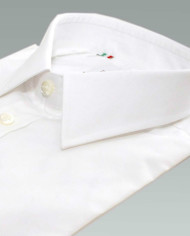 Enrico – Small Collar Formal Shirt in a Crisp White Poplin_3