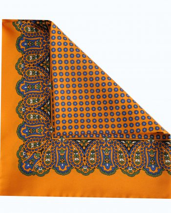 Jay orange pocket square