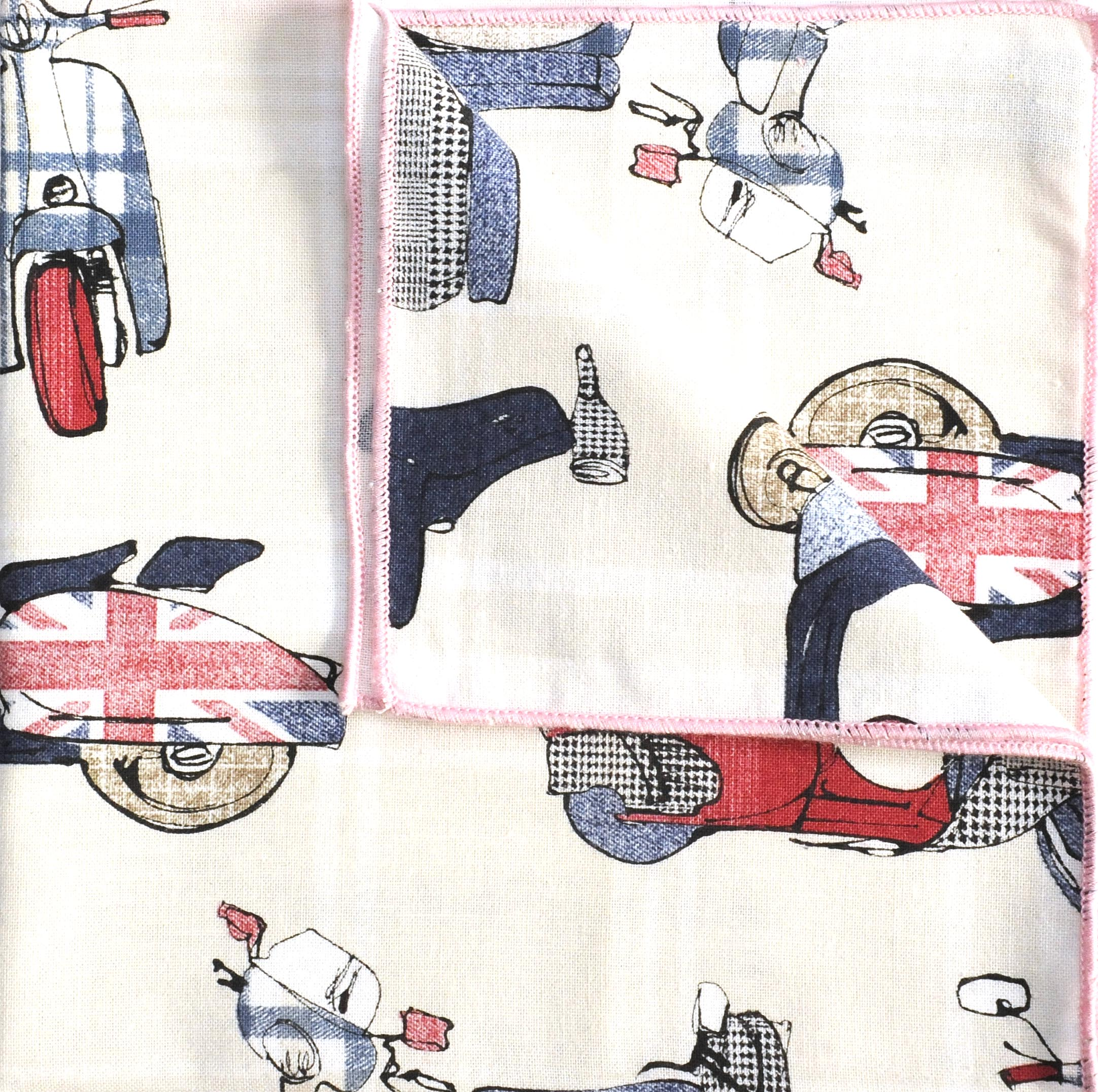 Mac - Scooter Print Cotton Men's Handkerchief