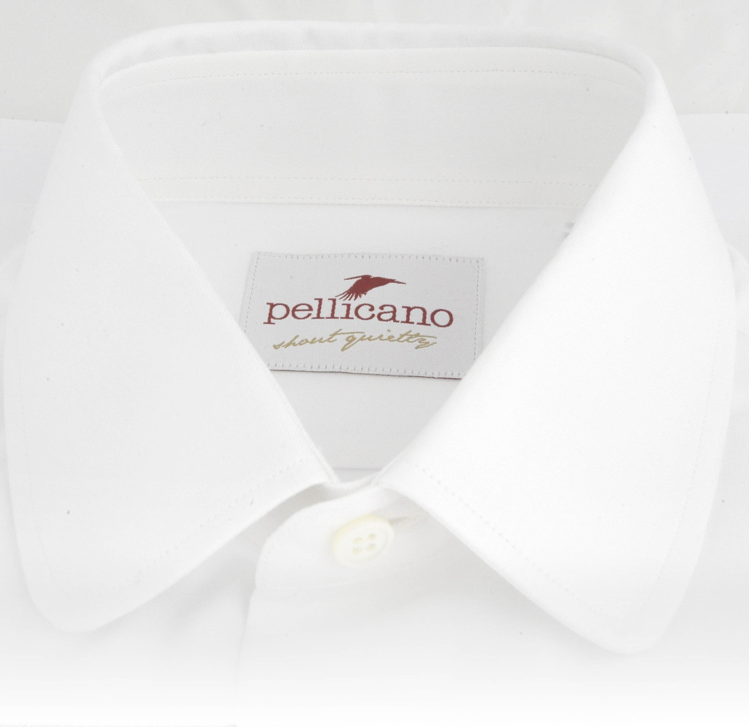 new collection official images new photos Roberto – Penny Collar Shirt in Crisp White Cotton in a Slim Fit