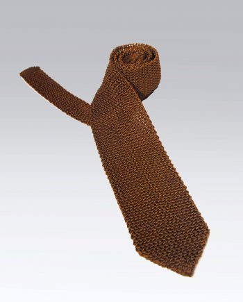 Lecco knitted tie in Tobacco