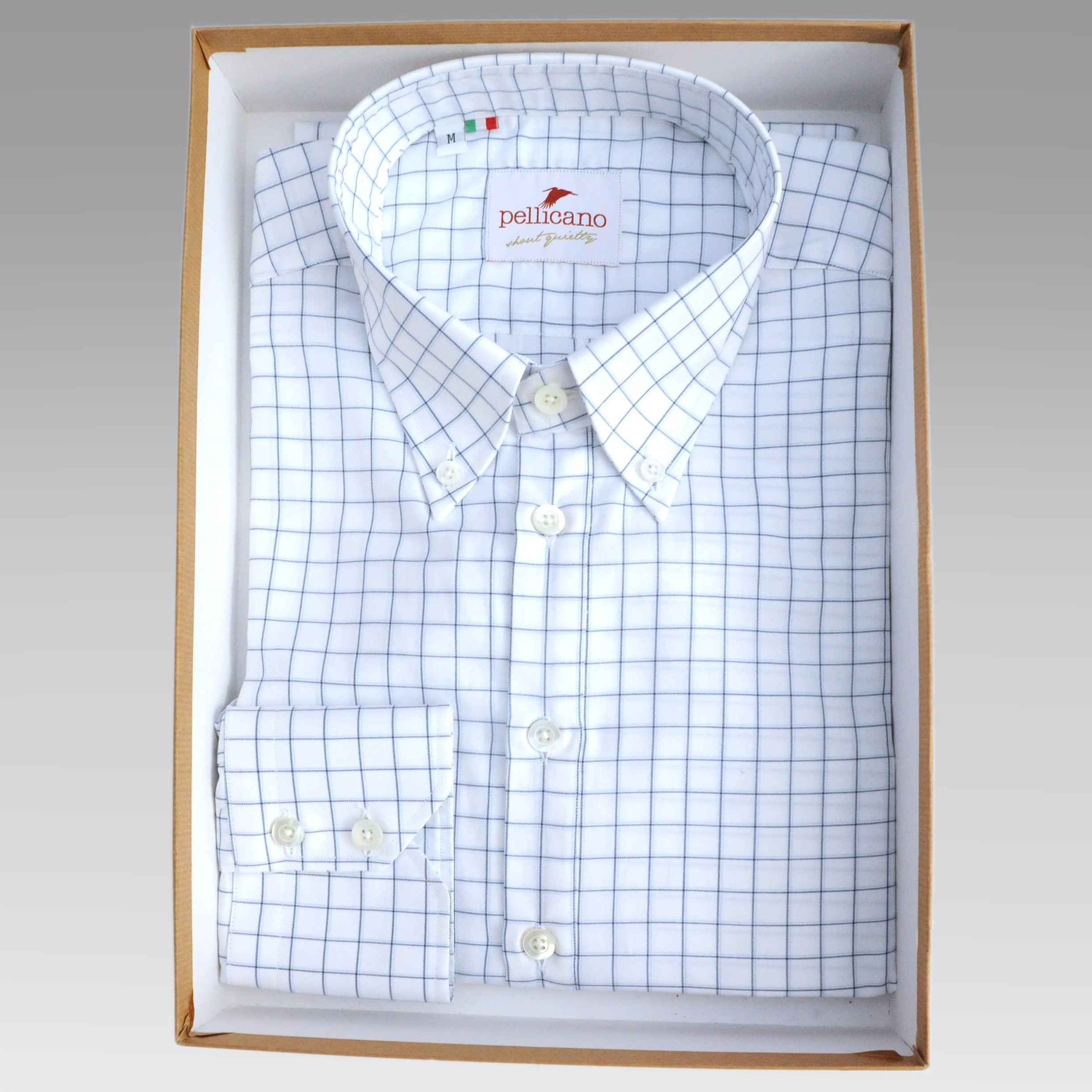 48af7c7b52ff4a Paolo Hewitt Pop - Button Down Popover Shirt in White with Blue ...