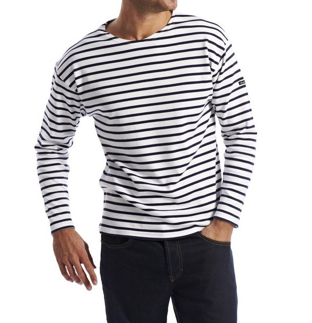 Armor.lux Striped Cotton-jersey Sweatshirt - Navy EP9rOJ