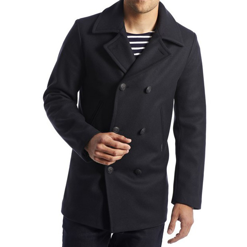 d5f66b9777d cap-sizun-pea-coat-navy-man-resize. £245.00. Authentic sailor s reefer  jacket by Armor Lux ...