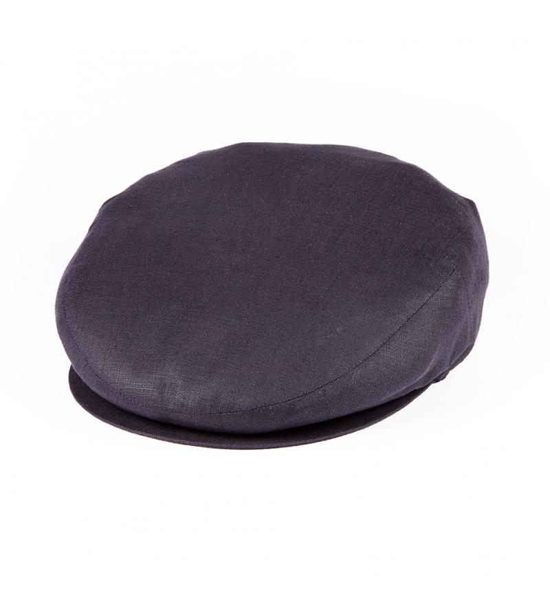 Mondello - Men s Flat Cap in Blue Linen - Pellicano Menswear 3bf65e6a5a27