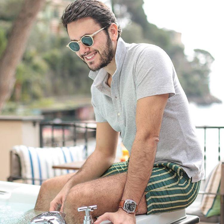f545fb3b58c Cran – Brushed Ivory Frame Italian Sunglasses with Bottle Green ...