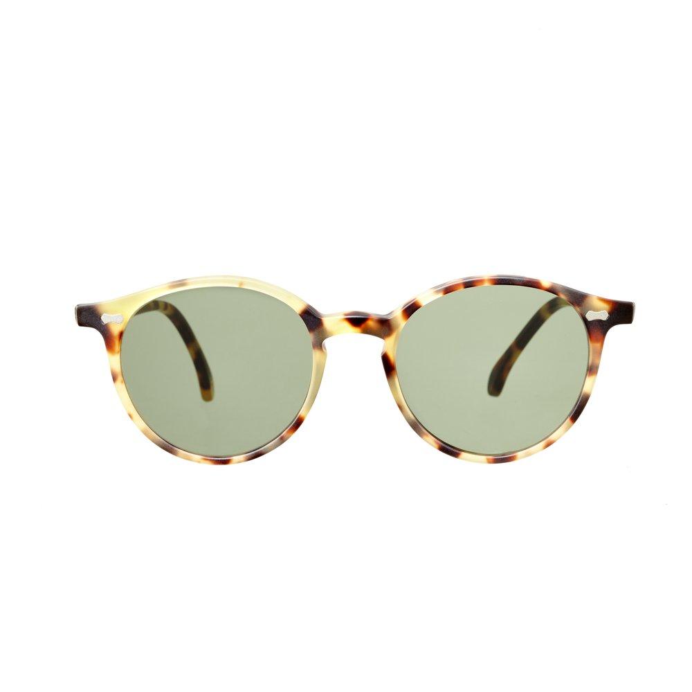 745b36c8df1 Cran – Matte Tortoise Frame Italian Sunglasses with Bottle Green Lenses.  Cran Light Tortoise Bottle Green The Bespoke Dudes Eyewear 2