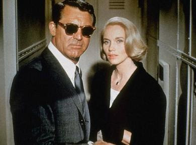 01 Jan 1959 --- Cary Grant and Eva-Marie Saint in 'North by Northwest', 1959. --- Image by © SUNSET BOULEVARD/CORBIS SYGMA