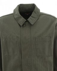 Olive green canvas cotton jacket 2