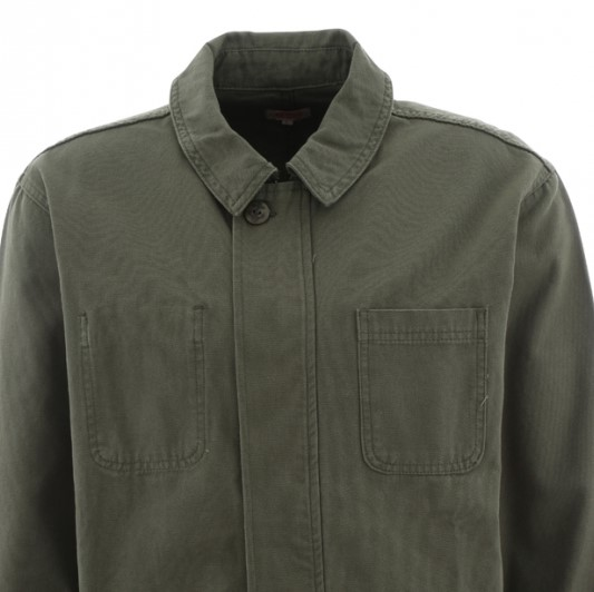 b566e9afede Armor Lux Olive Green Canvas Cotton Jacket - Pellicano Menswear