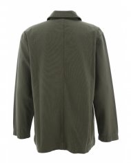 Olive green canvas cotton jacket 5