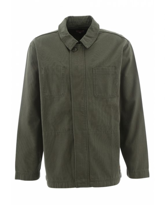Olive green canvas cotton jacket