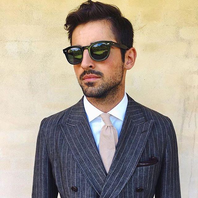 de2daae05e9 Donegal - Black Acetate Frame Italian Sunglasses with Bottle Green ...