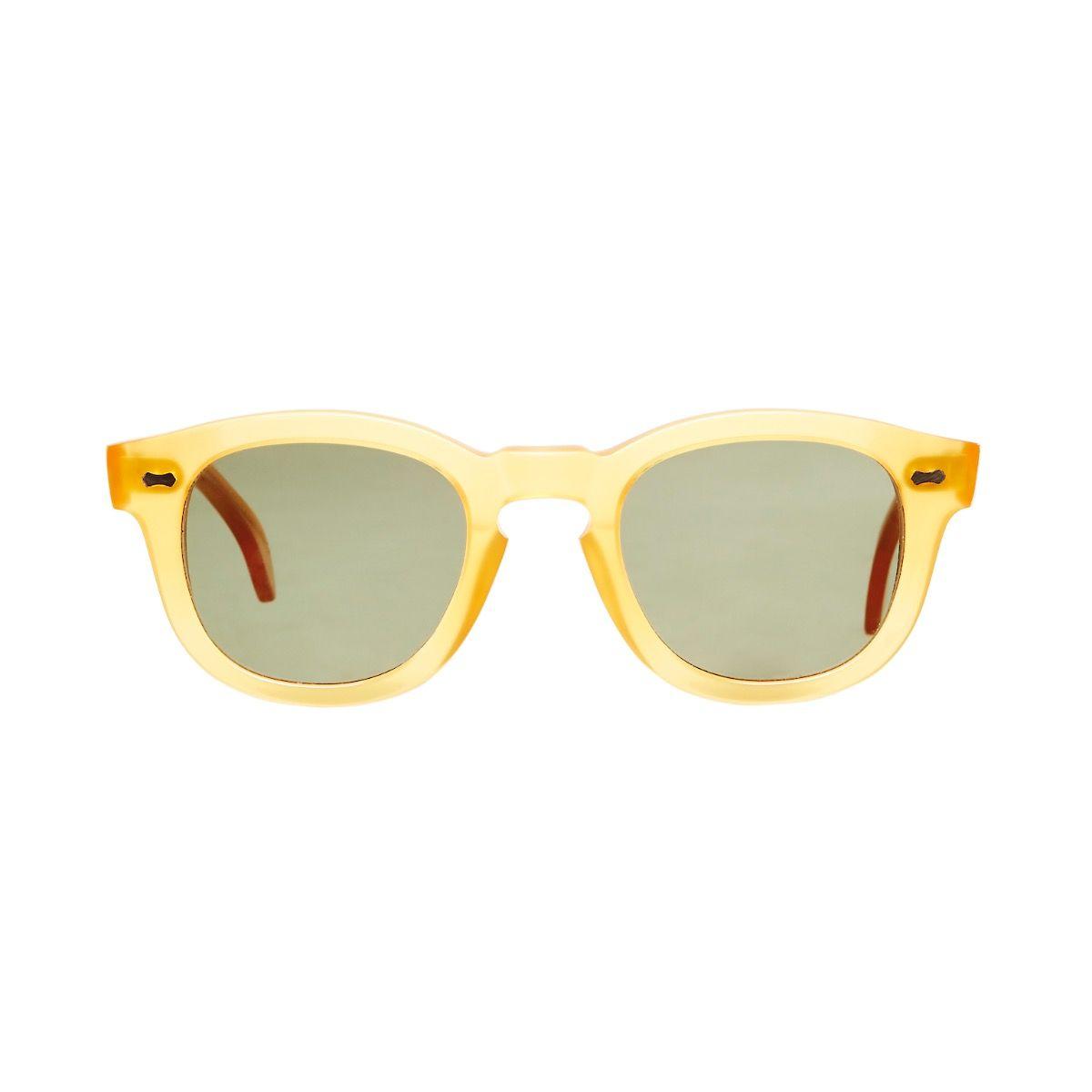 3d8bb38237f Donegal – Honey Acetate Frame Italian Sunglasses with Bottle Green Lenses