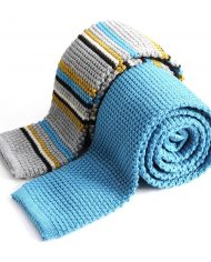 a turquoise &grey stripe ER