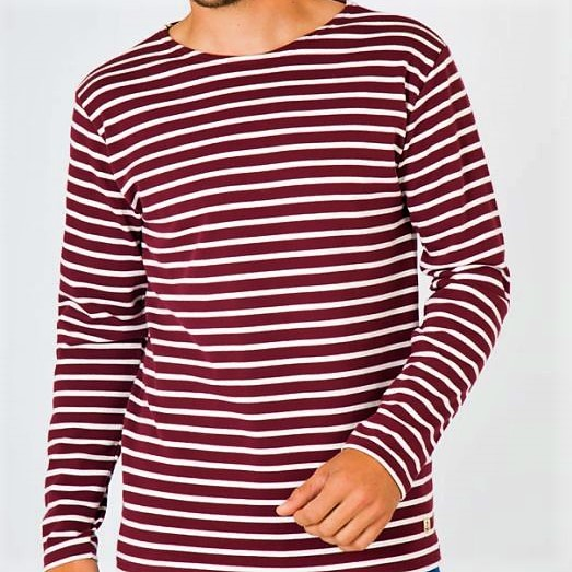 6437093c4e Armor Lux - Fitted Long Sleeve Cotton Breton Striped Shirt in ...