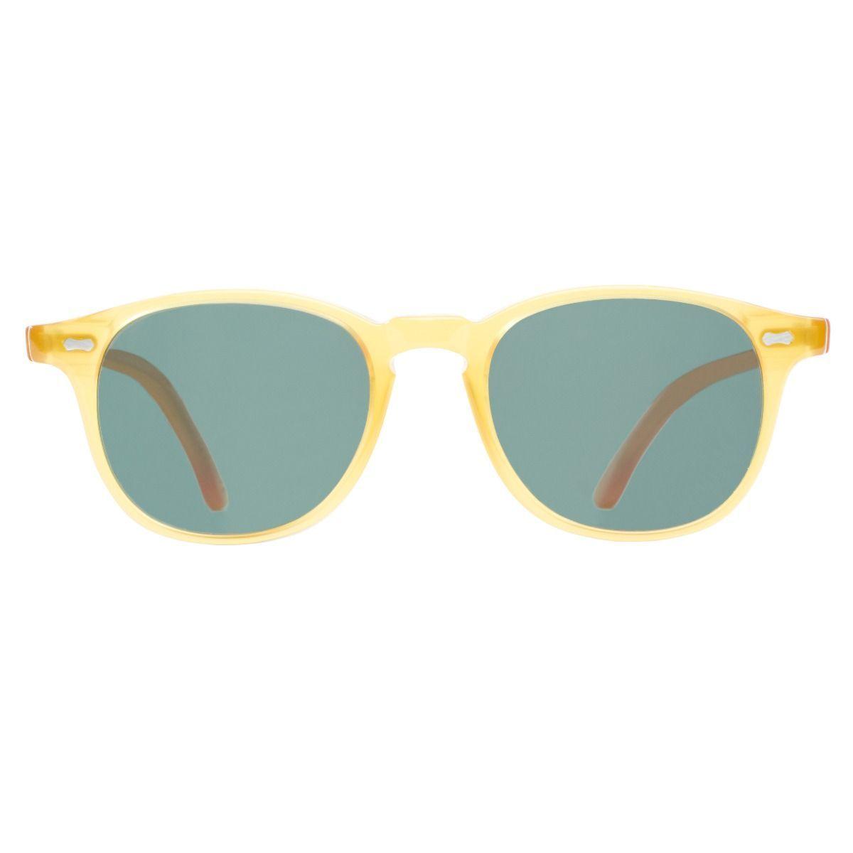e21ead6aeab Shetland – Honey Acetate Frame Italian Sunglasses with Bottle Green Lenses