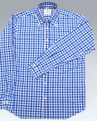 navy check front