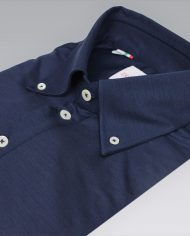 Navy Blue popover shirt angle