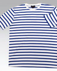 White & Blue Stripe Tee 3
