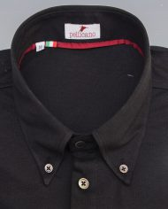 Black popover shirt close