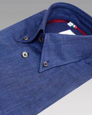 Blue linen shirt angle
