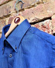 Blue linen shirt hanger