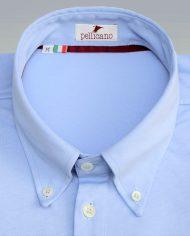 Light Blue popover shirt close up