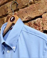 Light blue popover shirt hanger