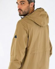 A raincoat-history brown back