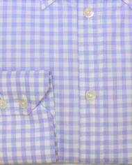 Lilac buton down shirt cuff
