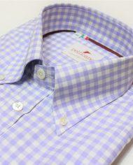 Lilac button down shirt – angle