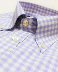 Lilac button down shirt collar roll
